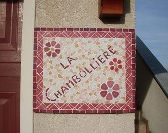 Costumisation - Enamels of Briare House - mosaic Plaque