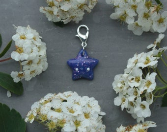 kawaii galaxy star charm