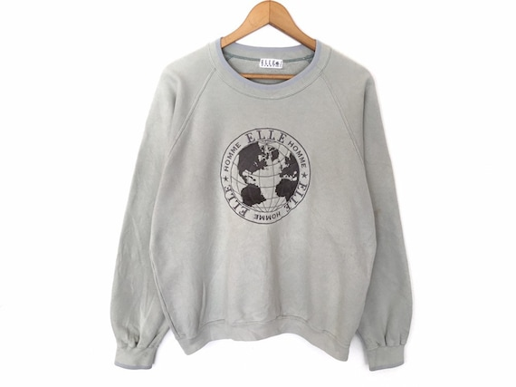 Elle Homme Spellout Embroidery Pullover Jumper Swe