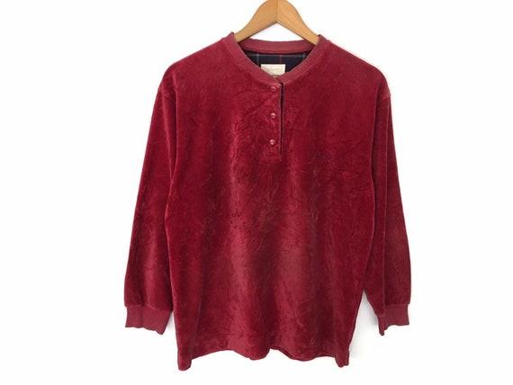 Burberrys Spellout Embroidery Shirt Velvet Long Sl