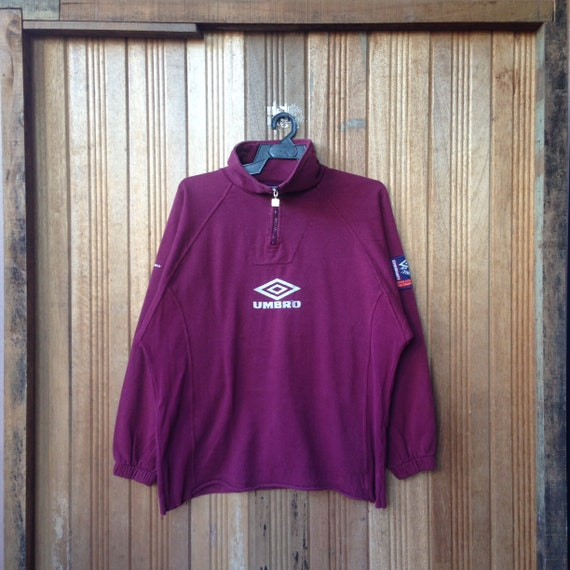 Umbro Big Logo Spellout Embroidery Sweatshirt Half