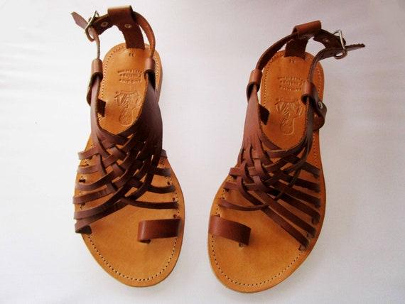 Women sandals Greek leather sandals PERSEFONI Brown sandals Leather sandals Greek sandals Wedding sandals Leather sandals women