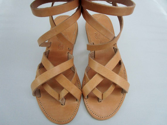 TRISKELION Greek Leather sandals Ancient Greek leather sandals Sandals women leather Leather sandals women Sandals leather