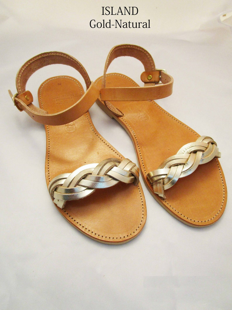 1f3e49c44f00 ISLAND  Women leather sandals  ancient Greek leather sandals