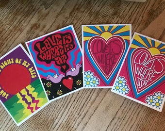 Valentines Day Cards - Four Pack