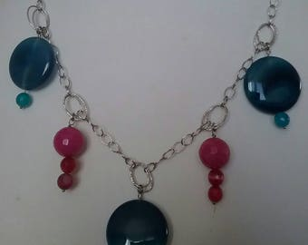 Silver and Agate Choker