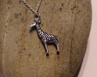 Sterling Silver Giraffe Necklace approx. 26mm