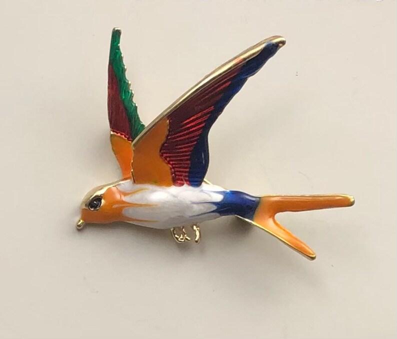 Vintage style Figural Toucan Bird brooch