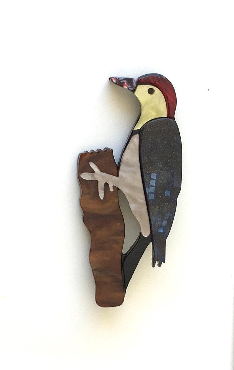 Unique bird Brooch in acrylic.