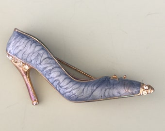 Vintage high heeled shoe brooch