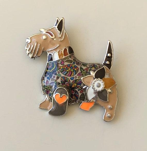 Adorable vintage  style dog brooch