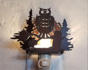 Porcelain Lithophane Owl Night Light