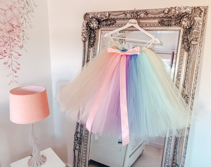 Girls rainbow tutu, unicorn tutu skirt, flowergirl tutu, bridesmaid tutu, wedding tutu, birthday tutu, cakesmash tutu, lilac tutu