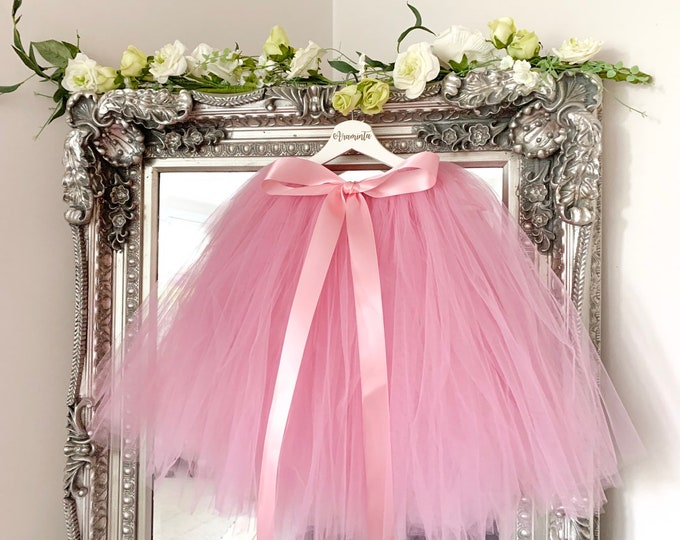 Adult tutu, tulle skirt, bridesmaids tutu, maid of honour tutu, flowergirl tutu, wedding tutu, dusty pink tutu
