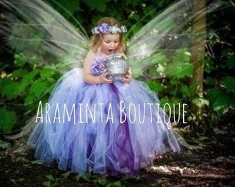 5c1a3036eee6 Girls LILAH flowergirl lilac tutu dress, purple flower tutu, fairy tutu, fairy  costume, Bridesmaid tutu, cakesmash tutu, flower tutu