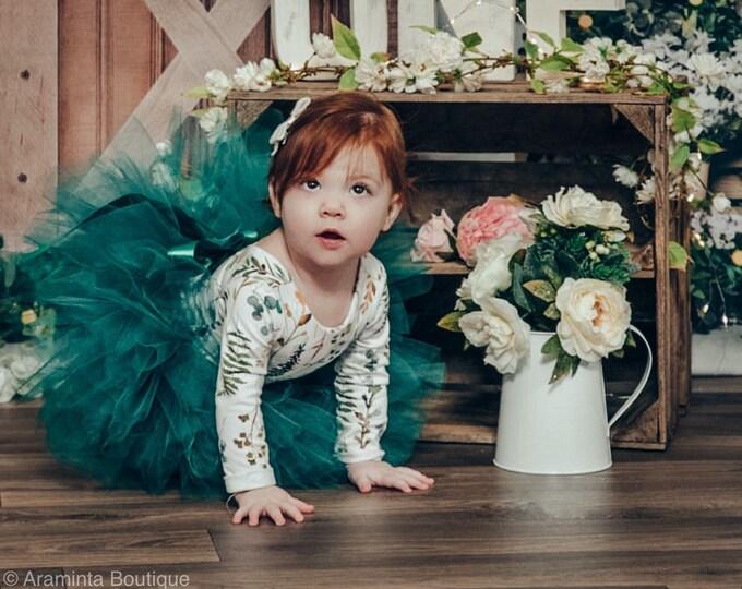 Dark green Tutu, Extra Full tutu, green tutu skirt, baby tutu, girls tutu, cakesmash tutu, photo props, birthday tutu
