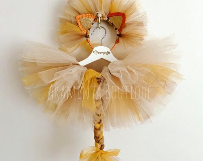 lion costume, lion tutu, safari, jungle, lion headband, safari party, lion tail, zoo party
