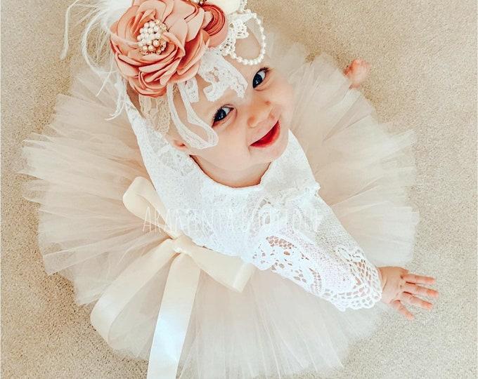 PEARL tutu, neutral tutu,ivory tutu, peach tutu, christmas tutu, cakesmash outfit, blush tutu,flowergirl tutu,bridesmaid tutu,first birthday