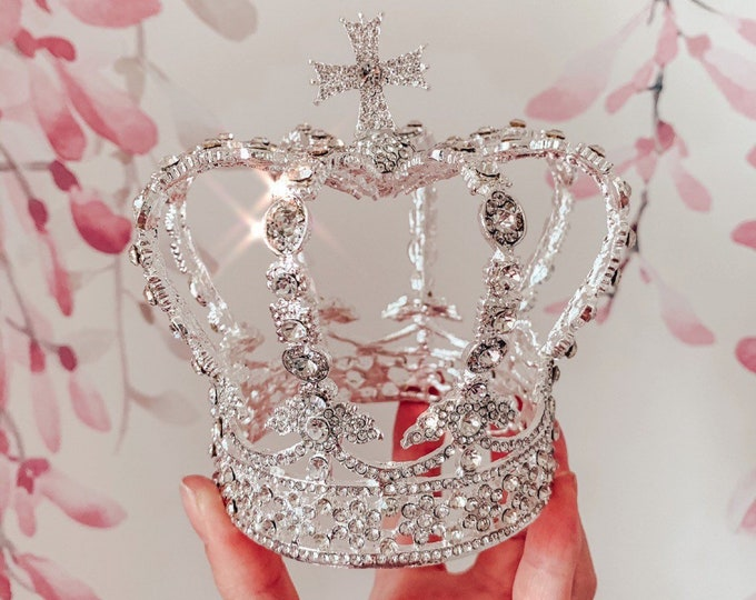 Statement Queen & Princess tiara, crown, diamanté headpiece