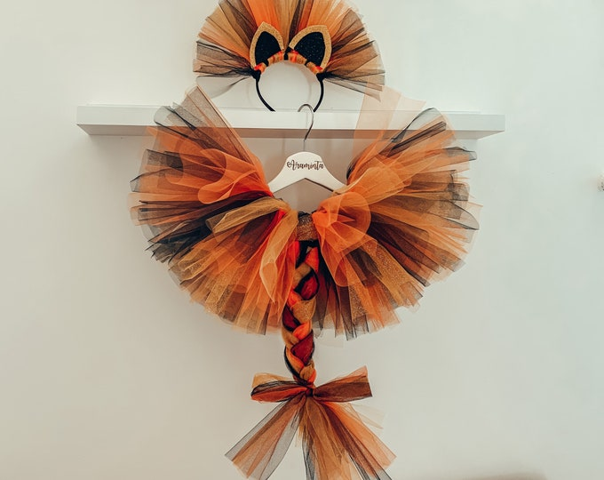 Tiger tutu set, tiger costume, tiger outfit, safari party, cakesmash outfit, birthday tutu, jungle party, animal costume