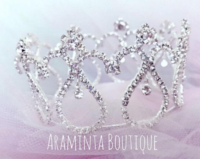 Baby Girl & Newborn Crown. Newborn, 1st Birthday, Cake Smash, Photoshoot, Newborn Photo Prop, Tiara, Girls Birthday, Princess,Party, Sparkle