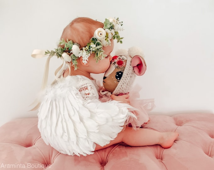 White angel wings, feather wings, valentine's accessory, baby angel wings, girls angel wings, fairy wings, baby Christmas gift, photo prop
