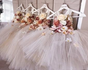 306beaa12f7 Girls flowergirl tutu dress