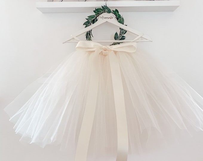 Adult tutu, tulle skirt, bridesmaids tutu, maid of honour tutu, flowergirl tutu, wedding tutu, ivory tutu