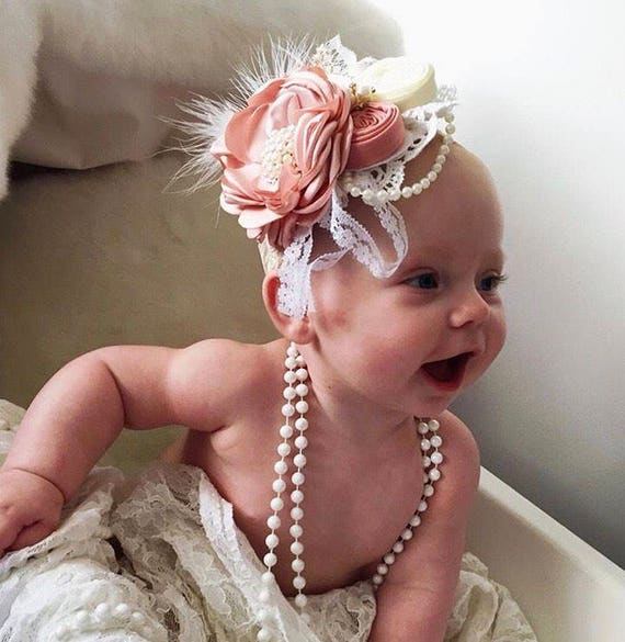 Schöne Säugling Stirnbandblume Neugeborenen Stirnband 7 # Rose