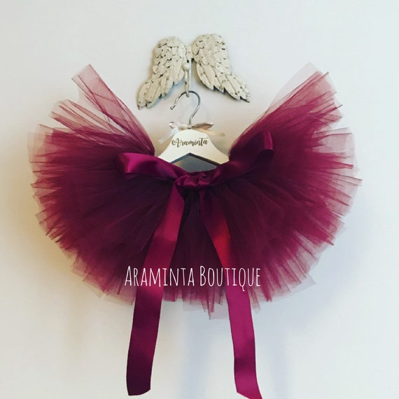 ab47fc48ab Girls Extra Full Burgundy Red Tutu red tutu skirt burgundy