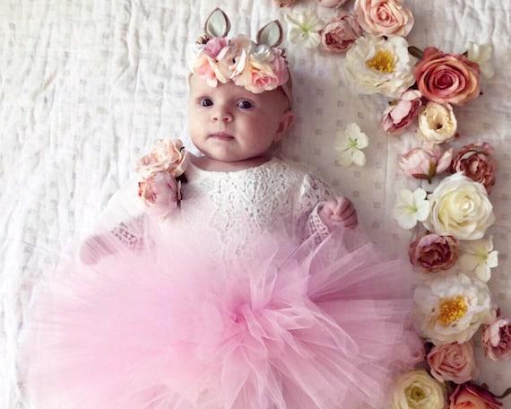 Bunny ears bunny headband Easter bunny flowerheadband baby  0f5cb092738
