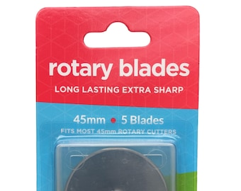 Boodle 5 x 45mm Olfa Compatible Rotary Cutter Blades + Case