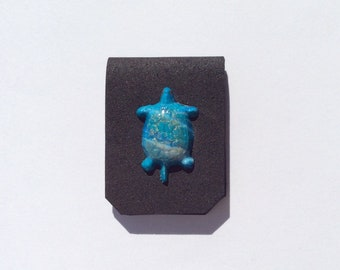 Turtle Bookmark, Tropical, Small, Book Accessories, Gift for Book Lover, Magnetic, Foam,Teal,