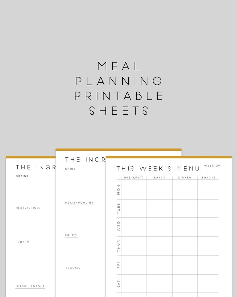 image relating to Meal Planning Sheets named sophisticated dinner building sheets printable supper prep calendar + grocery record  reduced planner