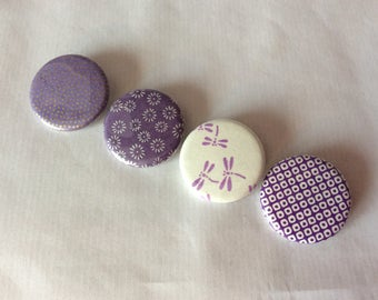 Purple Japanese paper badge