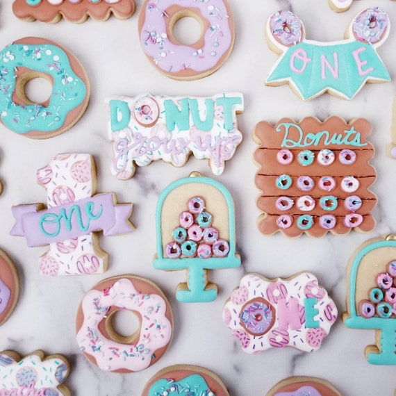 Donut Grow Up Cookies 2 Dozen   Donut First Birthday   Doughnut Party   Sweet Shoppe   Two Sweet   Donut Baby Shower   Donut Wall   Cake