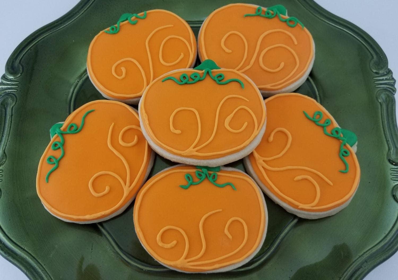 fd2b3e98273 Pumpkin Harvest Sugar Cookies | Pumpkin Cookies | Thanksgiving | Fall |  Autumn Party | Harvest Party | Halloween Cookies