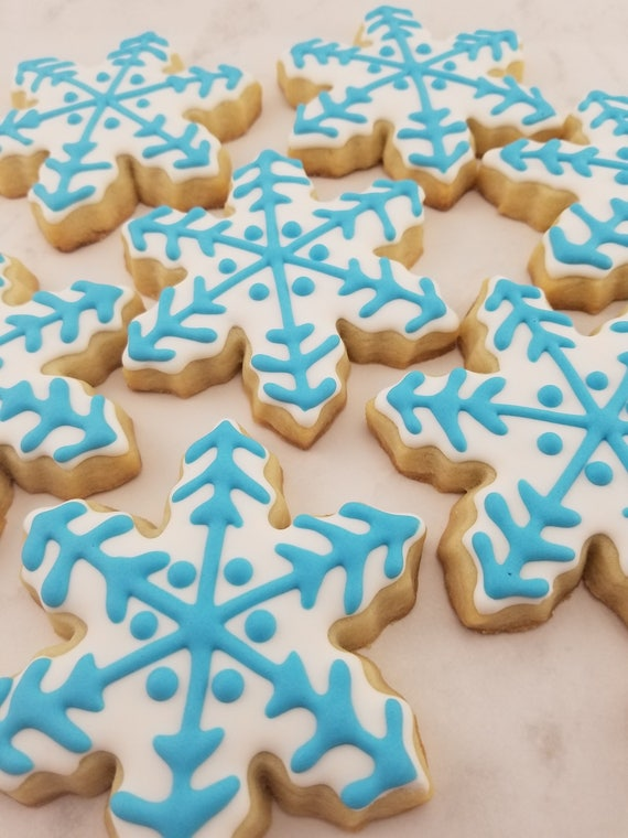 Snowflake Cookies Christmas Cookies Winter Cookies Sugar Cookies Winter Wonderland Winter Onederland