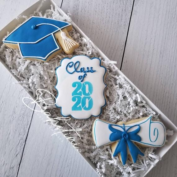 Graduation Cookie Gift Set | 3pc Gift Box | Congratulations | High School Graduation | College | University | Graduation Gift | Senior Gift