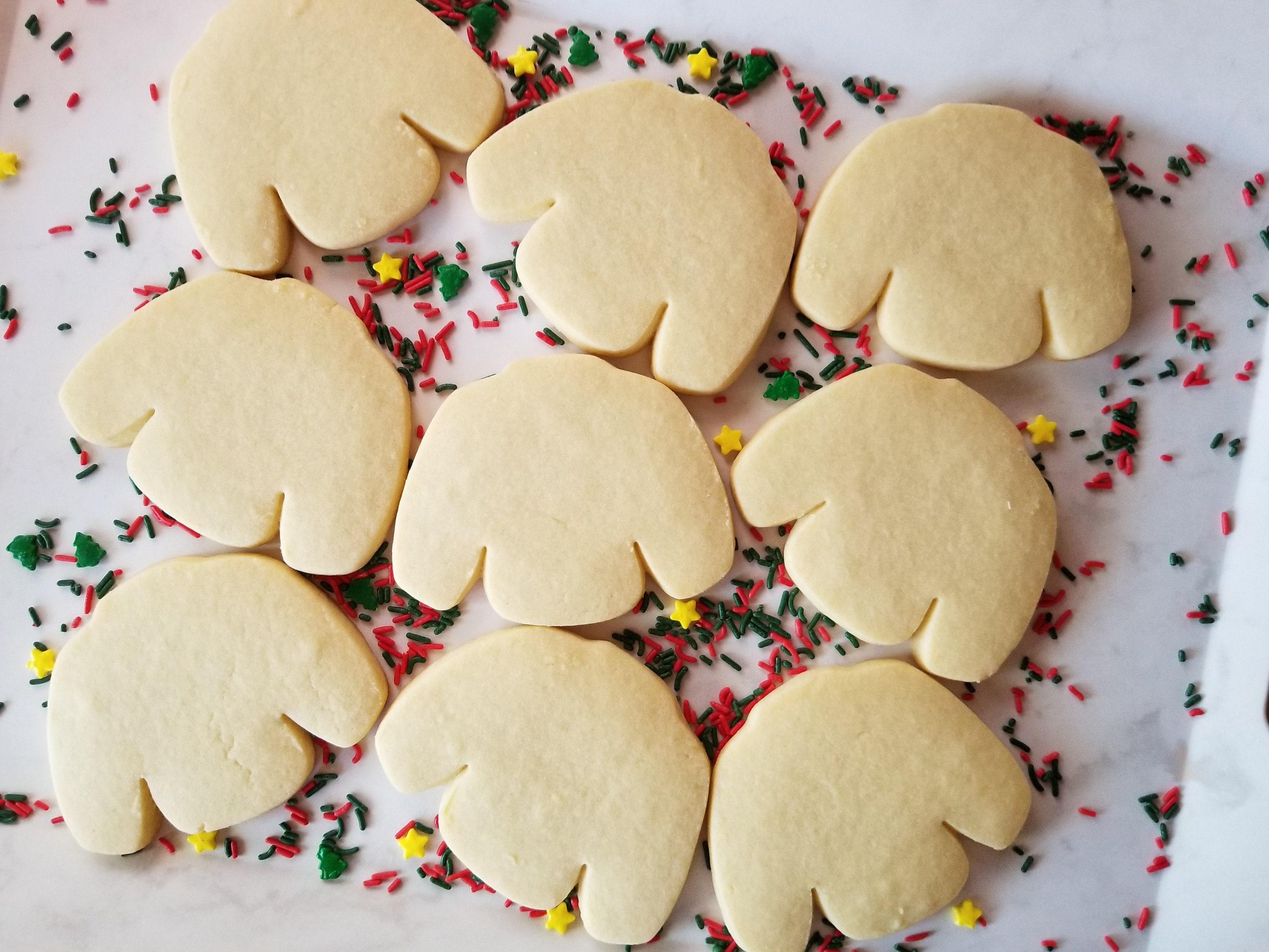 Ugly Sweater Party Sugar Cookies Undecorated Christmas Cookies