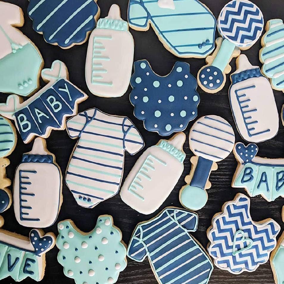 It S A Boy Baby Shower Cookies Onsie Cookies Oh Boy Baby