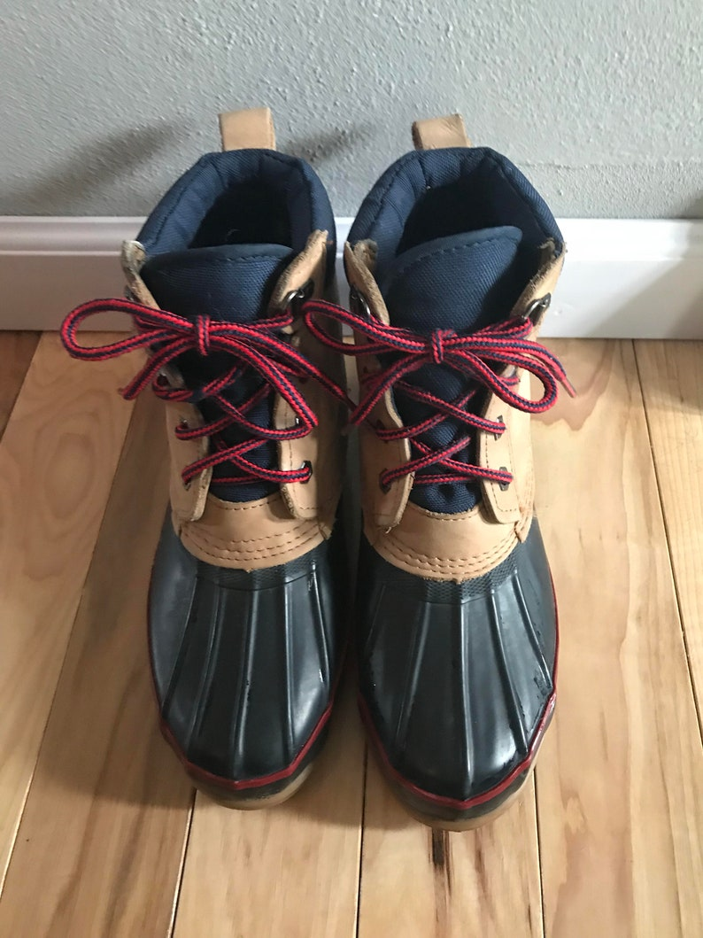 6480aace72fd3 Lands End Duck Boots Size 8/9 Great Condition Vintage 1980's Rain Boots
