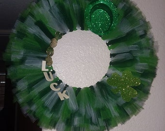 Luck of the Irish Tulle Wreath