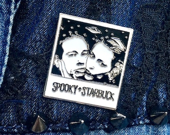 Mulder + Scully Polaroid Pin