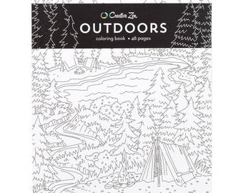 American Craft Outdoors Coloring Book