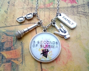 Necklace 5 seconds of summer, jewelry 5sos