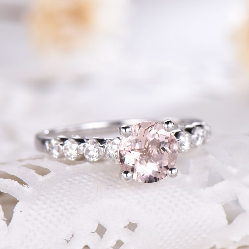 Fine Rings Fast Deliver Natural Tourmaline Wedding Engagement Rose Cut Diamond 925 Sterling Silver Ring Jewelry & Watches