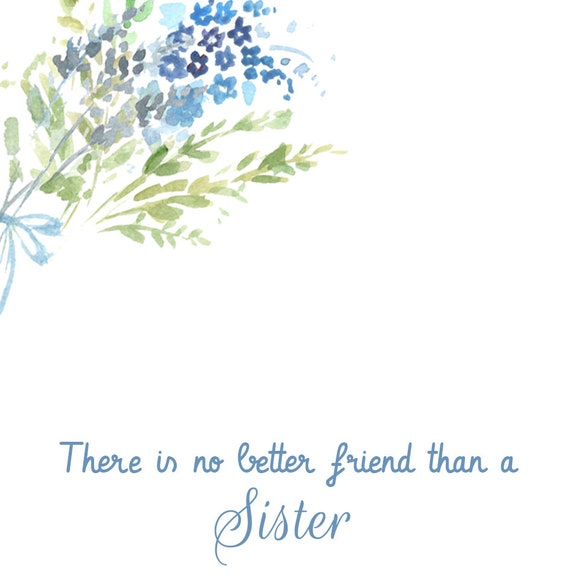 sister gift message card sister best friend jewelry set etsy