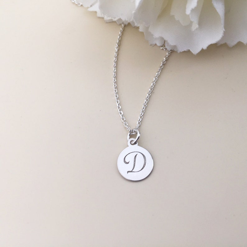 ea2266990 PERSONALIZED D INITIAL NECKLACE I sterling silver D letter I | Etsy