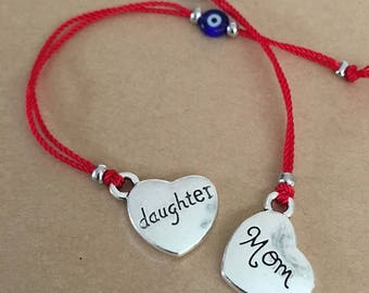 Mommy and Daughter matching bracelets - HEART